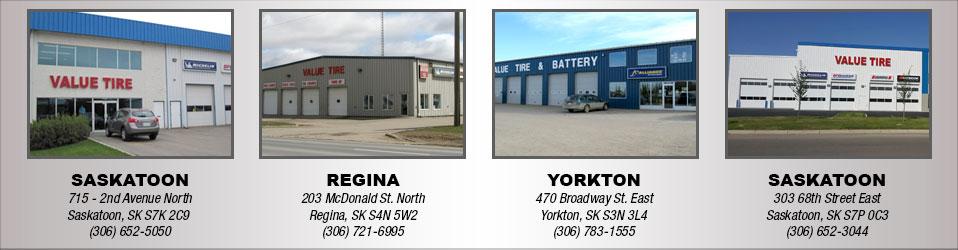 Value Tire :: Locations in Saskatchewan   Tires & Auto Repair